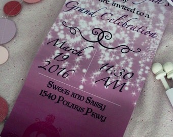 Princess Scroll Invitations