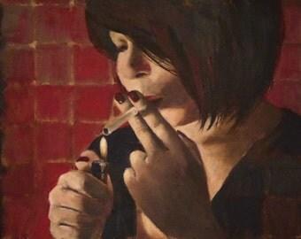 original small oil painting portrait - Valentine's Day - by Anita Dewitt - portrait and figurative fine artist