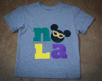 Mardi Gras NOLA Disney Inspired Adult or Kid Shirt