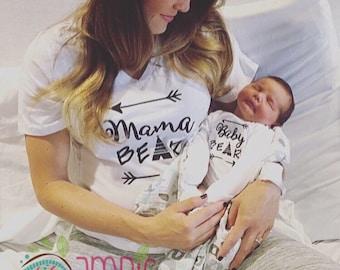 Mama Bear Baby Bear Shirts/Mama Bear Baby Bear/Mama Bear Shirt/Baby Bear Onesie/Baby Onesie/Custom Onesie/Womens Shirt/Bodysuit/Creeper