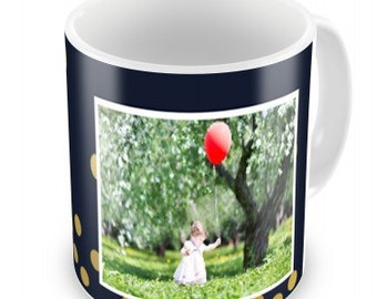 Personalised photo mug great for a gift.