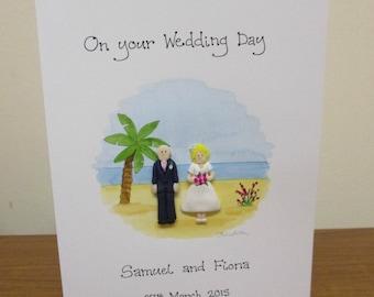 Personalised Wedding Card - Beach