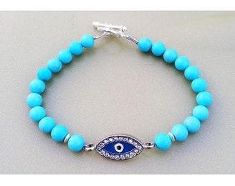 Light Blue Evil Eye Bracelet