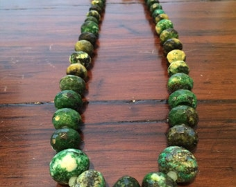 Yellow turquoise with Jade and  Black Onyx