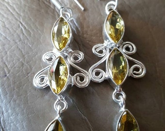 Lemon Topaz Earrings!