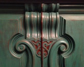 Sideboards and Buffets, Buffet, Jacobean, Sideboard, Teal, Upcycled Furniture, Painted Furniture, Albany, NY, Hudson Valley, Pick Up Only