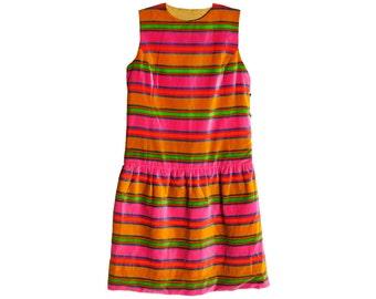 Vintage 70s Dress - Size M Dress - Vintage Short Dress - Multicolor Dress - Womens Vintage - Vintage Dress