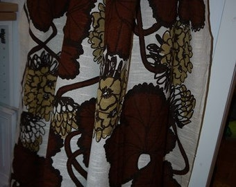 Curtains - 2 Lengths - Fabric - Viola Gråsten - Geranium - RETRO - 60s - Sweden