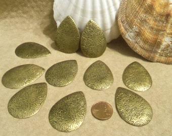 Embossed Aluminum Drops, Antique Brass Finish (G40)