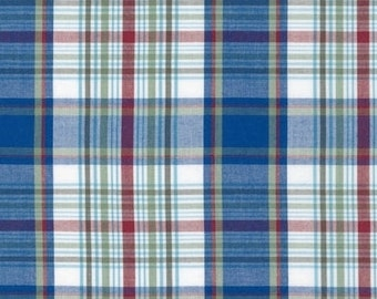 Blue & Red Newport Plaid from Robert Kaufman