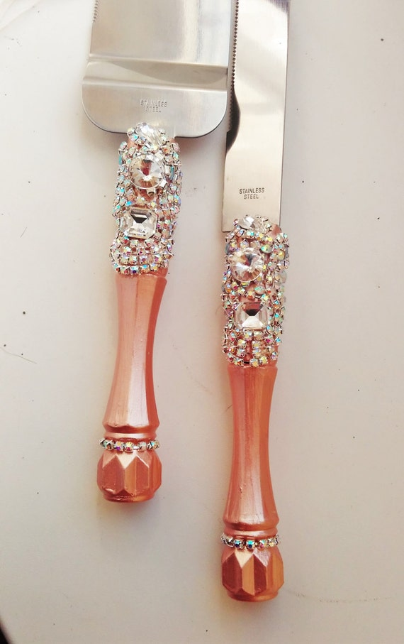 rose gold wedding cake serving set wedding cake server set wedding gold by 19292