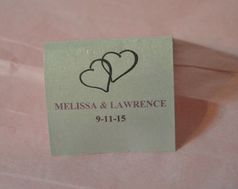 Mint Matchbook Wedding Favors