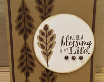 Handmade Greeting Card Blessing Friendship Encouragement Stampin Up