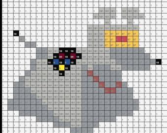 K-9 Doctor Who Inspired Perler Bead Sprite Pixel Pattern Instant Digital Download