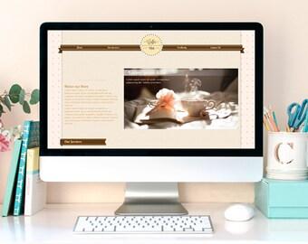 Cofee and tea shop single page HTML template