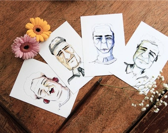 Pack of 8 postcards (with white envelope)-series