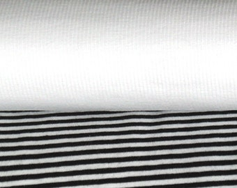 Fabric package Jersey stripes black and white