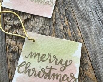 Set of 5 Christmas tags, Christmas gift tags, Merry Christmas tag