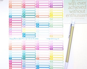 Happy Planner Blog Post and YouTube Header Labels Printable Stickers PDF