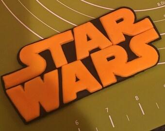 Star Wars Logo Fondant Cake Topper Handmade
