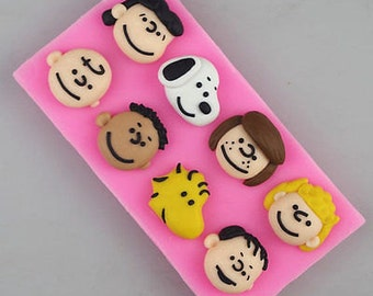Silicone Snoopy Peanuts Gang Charlie Brown Woodstock Cartoon Characters Cake Fondant Mold