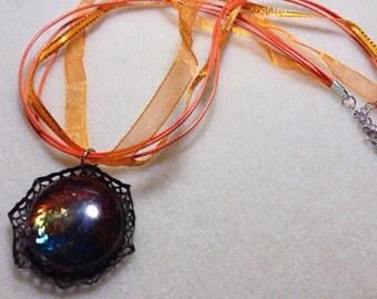 Boho glass gem necklace