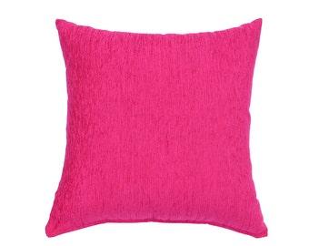 Jacquard Pillow Cover Fuchsia