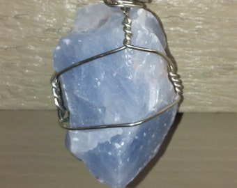 Blue citrine necklace