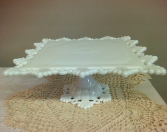Westmoreland Glass Milk Glass Cake Stand