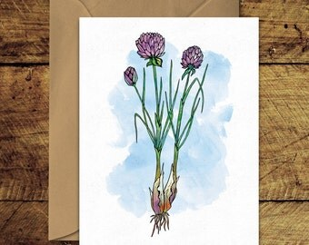 Chives - Greeting Card with Envelope
