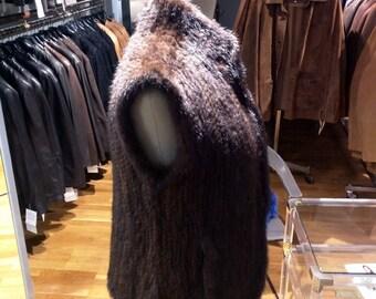 Elegant Knitted Mink Vest