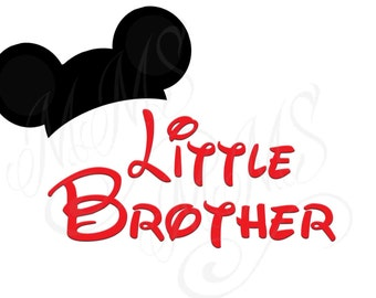 Little Brother Mickey Family Shirt DIY Mickey Mouse Head Disney Family Download Iron On Craft Digital Disney Cruise Line Magnet Shirts