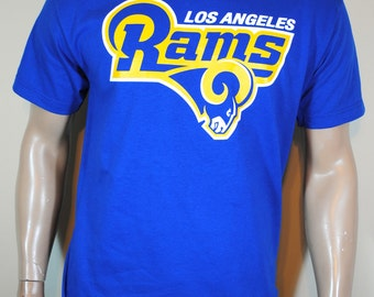 Los Angeles Rams Football T shirt Mens LA Tee