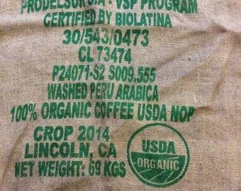 USDA Burlap Sack (100% Organic Coffee)