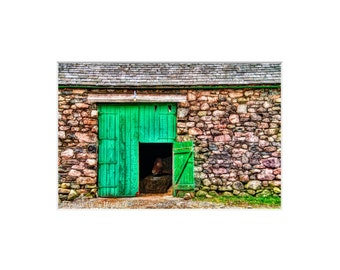 Matted Photo Paper Prints,Barn Door and Cow,Wasdale Head,England,Fine Art Photography