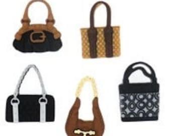 Posh Purse - colourful  - novelty Dress It Up craft buttons - handbags, bags, purses