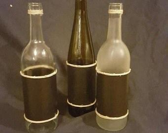 Wine Bottle chalkboard set (3)