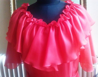 Long vintage, size 38, red dress