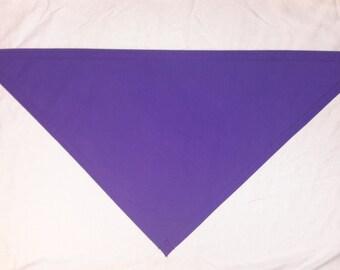 """26"""" Purple cotton,1-layer bandana"""
