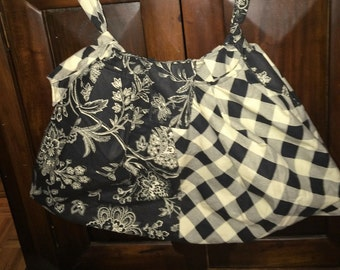 Black and Cream Purse