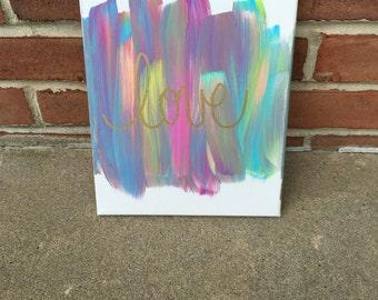 Love Colorful Canvas