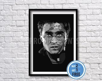 Harry Potter art print, Harry Potter poster, Harry Potter wall art
