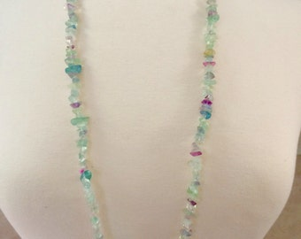 Long Fluorite Necklace