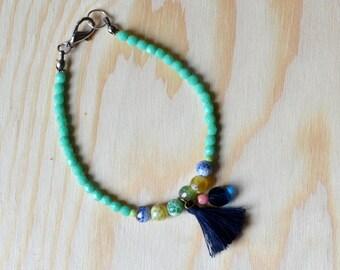 Handmade tassel bohemian simple bracelet