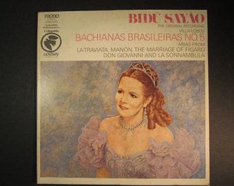 Bidu Sayau, Bachianas Brasileiras No. 5, The original recording 1964, opera,arias, La Traviata,Manon,Figaro,Don Giovanni,La Sonnambula,Ex LP