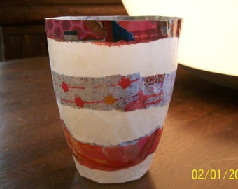 Candle colorful recycled paper