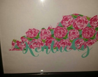 State Lilly Pulitzer print