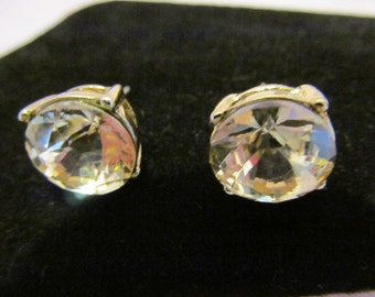 Vintage large rhinestone earrings, extra large rhinestone earrings,