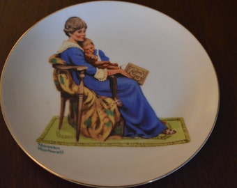 """Norman Rockwell's """"Bedtime"""" Collectible Plate"""