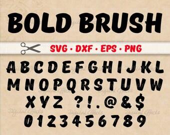 BOLD BRUSH SCRIPT Monogram Svg, Dxf, Eps, Png Files, Brush Stroke Digital Alphabet Svg Letters, Silhouette  Svg Cut Files, Handwriting Font
